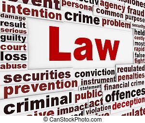 Conceitual, mensagem, lei, palavra, fundo