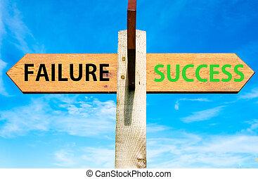 conceitual, mensagens, imagem, sucesso, fracasso