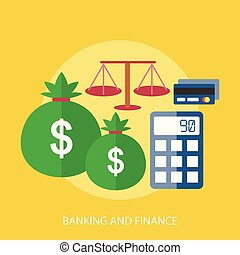 conceitual, operação bancária, desenho, finanças, ilustração