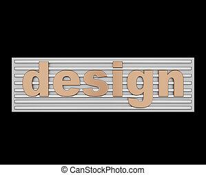 conceitual, palavra, desenho, sinal