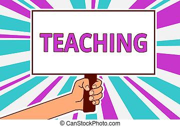 conceitual, passe escrito, mostrando, teaching., negócio, foto, showcasing, ato, de, dar, informação, explicando, um, assunto, para, um, homem pessoa, ter, tábua, idéia, reflexão, intention, greve, experiência.