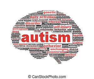 conceitual, símbolo, desenho, autism