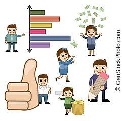 conceitual, vetorial, negócio, gráficos