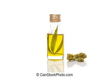 concentrado, herbário, médico, marijuana, remedy.
