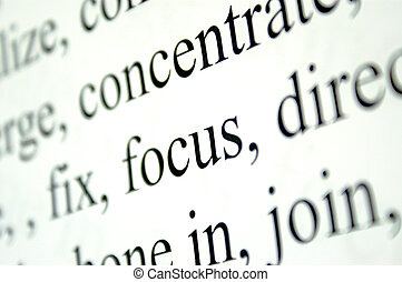 concentrate - worded page with small focus to show concept...