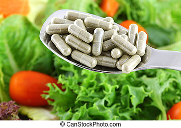 Concentrated Fiber Capsules OR Fresh Salad, to support...
