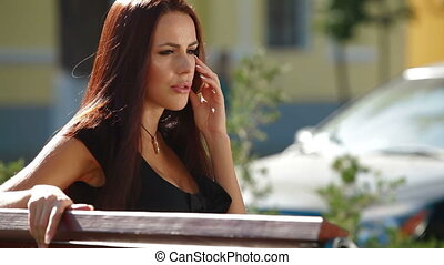 Concentrated Woman On The Phone