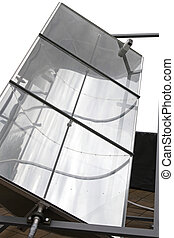 Concentrating solar power unit with parabolic mirror