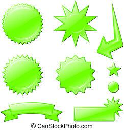 concentration étoile, conceptions, vert