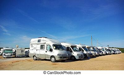 Concentration of caravans.