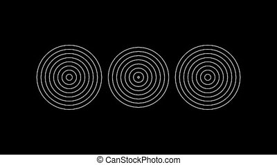 Concentric-23n - Loopable seamless cyclic animated sequence...