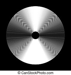 Concentric Circle Elements Backgrounds. Abstract circle pattern. Black and white graphics.