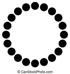 Concentric circles. Abstract beads, pearls, bracelet shape. Symbolic minimal illustration