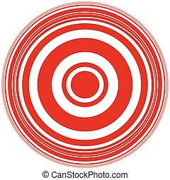 Concentric circles abstract circular pattern. Geometric...
