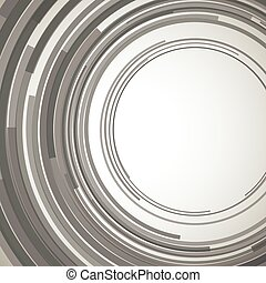 Concentric circles abstract element