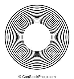 Concentric circles, concentric rings. Abstract radial...