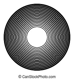 Concentric circles geometric element. Radial, radiating...