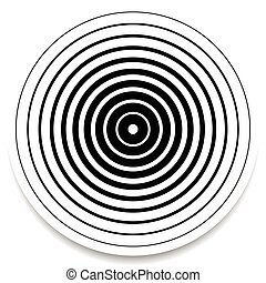 Concentric circles, rings abstract geometric element....