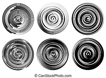 Concentric circles, rings abstract pattern. Suitable as...