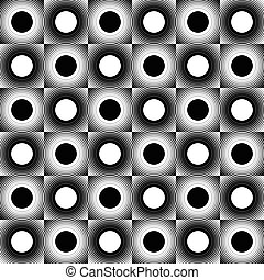 Concentric circles, rings abstract vector. Can be used as a seamless pattern.