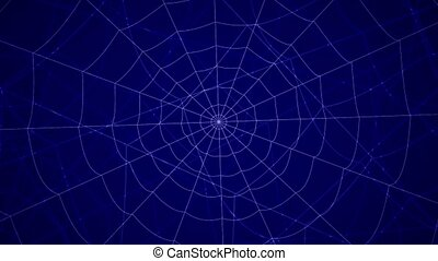 concentric cobwebs on a blue background - concentric cobwebs...