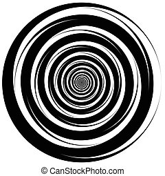 Concentric - converging circles. Abstract vortex, spiraling...