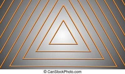 concentric geometric shapes - orange triangle in abstract ...