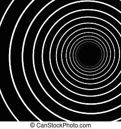 Concentric Lines. Spiral Background. Volute Hypnosis Circular