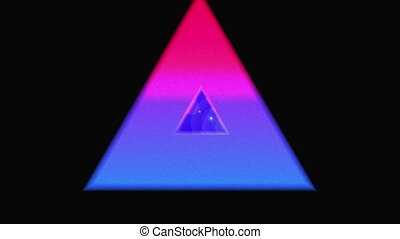 Concentric triangles - Digital animation of multicoloured ...