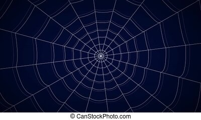 concentric white web on a blue background