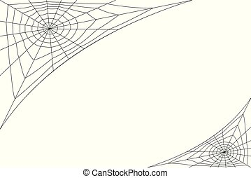 concentric white web on a white background - concentric web...