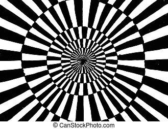 concentrique, ornement, cercle