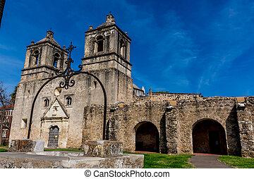 concepcion, történelmi, misszió, spanyol