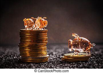 concept, économie, bitcoin