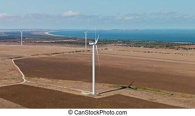 concept, énergie, turbine, vent, amical, renouvelable, ...