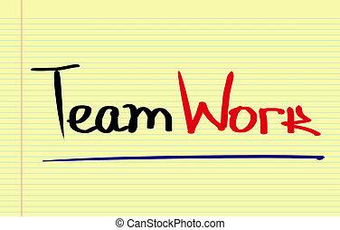 concept, équipe
