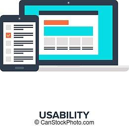 concept, évaluation, usability