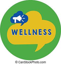 concept, être, texte, activement, circle., but, voile de surface, poursuivi, balloon, écriture, état, santé, parole, porte voix, bulle, bon, wellness., business, mot, surtout, annoncer, intérieur