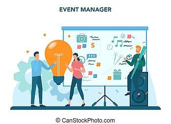 concept., ή , υπηρεσία , γεγονός , διαχειριστής , εορτασμόs , συνάντηση
