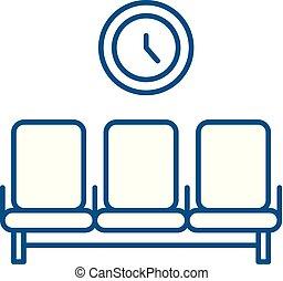 concept., γραμμή , μικροβιοφορέας , δωμάτιο , σύμβολο , διαμέρισμα , εικόνα , σήμα , περίγραμμα , αναμονή , illustration.