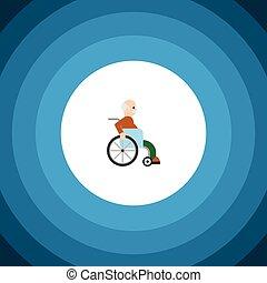 concept., μικροβιοφορέας , ανάπηρα , γίνομαι , icon., άντραs , πρόσωπο , ανάπηρα , ανάπηρος , απομονωμένος , άντραs , στοιχείο , μεταχειρισμένος , μπορώ , σχεδιάζω , διαμέρισμα