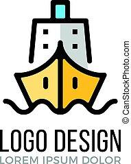 concept., μικροβιοφορέας , σχεδιάζω , ο ενσαρκώμενος λόγος του θεού , πλοίο , icon.