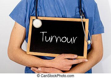 concept., врач, медицинская, информация, tumour., shows, blackboard: