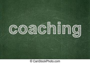concept:, コーチ, 教育, 黒板, 背景