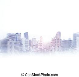 concept., ビュー。, 抽象的, ビジネス, バンコク
