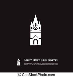 concept., ベクトル, 信頼, 信頼, 大聖堂, ありなさい, icon., 教会, 隔離された, 要素, 使われた, 缶, デザイン, 大聖堂