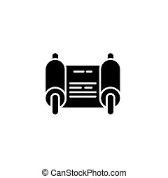 concept., ベクトル, 黒, シンボル, 命令, 平ら, アイコン, 印, illustration.