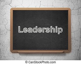 concept:, リーダーシップ, 背景, 黒板, ビジネス
