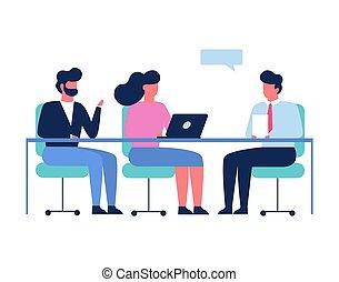 concept., 会議, ビジネス, 部屋, ミーティング