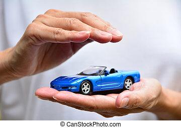concept., 保護, 車。, ビジネス